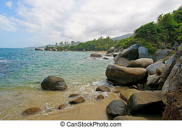 Beach of Tayrona national park, Colombia