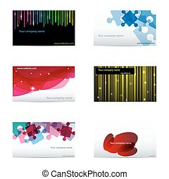 Business cards - Vector set with different business cards