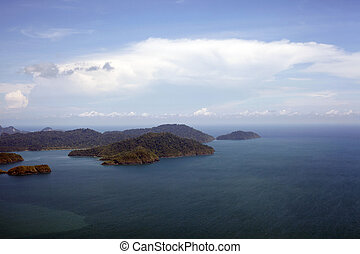 Malaysia. Langkawi - Islands Langkawi from height of the...
