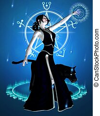 The Sorceress and Black Panther - 1 - Sorceress and her...