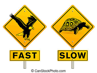 fast and slow sign