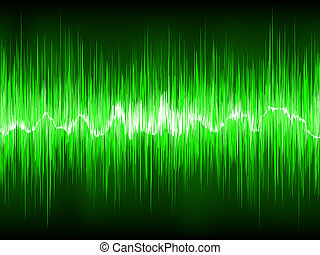 Abstract Green waveform EPS 8 vector file included