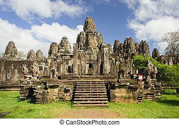 Bayon Temple in Cambodia - Famous Bayon temple inside Angkor...