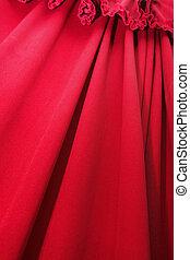 pregas, vermelho, Cortina