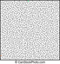 Vector illustration of perfect maze EPS 8 vector file...