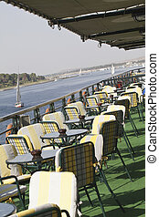 Cruising down the Nile - Cruise boat on The river Nile Egypt...