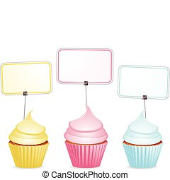 cupcakes and labels