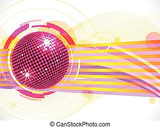 abstract pink disco ball background