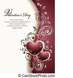Valentines Background - Vector illustration of an abstract...