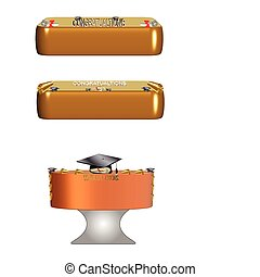 diploma cakes - cakes for graduation on white