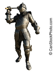 Mediaeval Knight with Mace - Medieval Knight in armour...