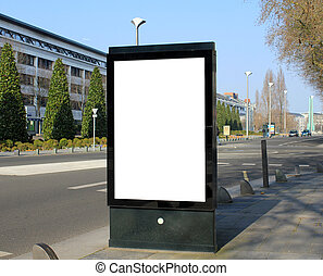 Advertising board - Blank Advertising board in urban...