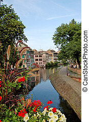 A view of the Little France (Petite France), a small district of Strasbourg