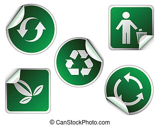 ecology sticker , icons