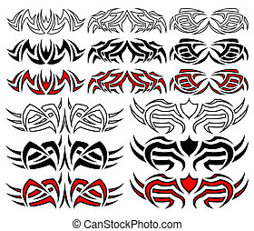 Tribal tattoo pack, vector