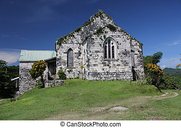 Old jamaican church - caribbean church in Jamaica