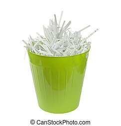 green waste basket with paper - green waste basket with...
