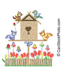 Easter birdhouse