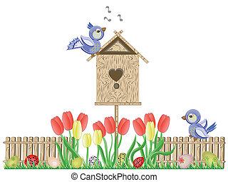 Easter ,birdhouse