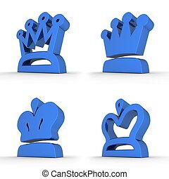 四, 藍色,  -, 王冠, 皇家