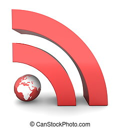 RSS Sign in Metallic Red