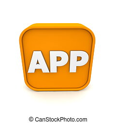 APP Icon RSS-Style - orange RSS like APP symbol rendered in...