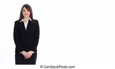 Presentation. Picture. - Attractive, professional woman uses...