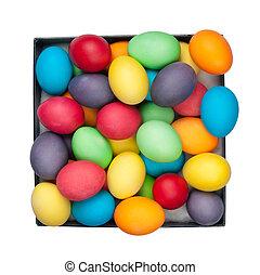 eggs - multi color eggs in box