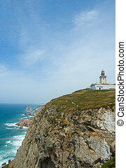 lighthouse at Cabo de Roca, the westernmost point of mainland Europe