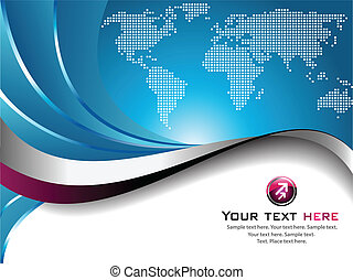 Business Background - An abstract business concept, with...