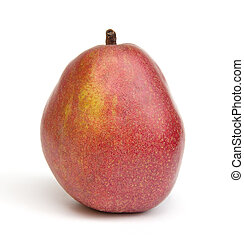 Red Pear - Red D'Anjou Pear on a white background.
