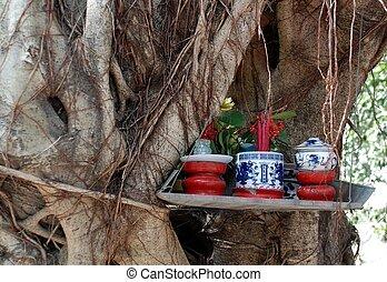 altar, árbol