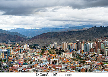 Panoramic view of La Paz, Bolivia