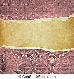 grunge vintage wallpaper -trorn bannner - highly detailed...