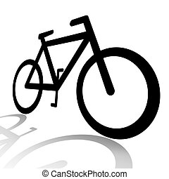 Bicycle silhouette illustration isolated over white...