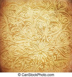 grunge background with oriental ornaments - Highly detailed...