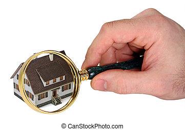 hogar, inspección, concepto