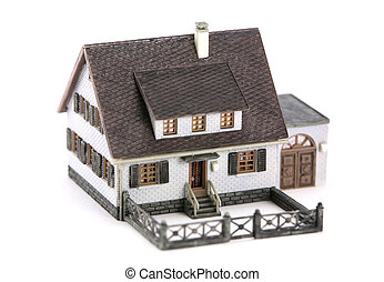 Miniature model home - A miniature model home. Home is only...