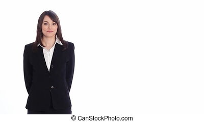 Presentation. 3 points. - Attractive, professional woman...