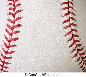 Macro baseball seams - Macro baseball showing the red seams