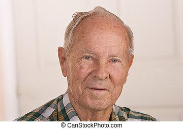 anziano, cittadino, uomo