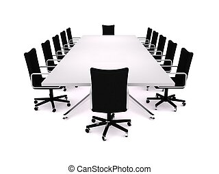 Boardroom - 3D rendering of a business meeting room