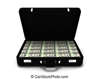 Million dollar briefcase - 3D rendering of a million dollar...
