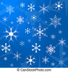 Christmas gift wrapping paper - Illustration of a blue...