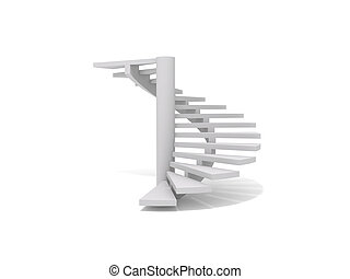 Spiral staircase - 3D rendering of a spiral staircase