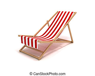 Beach chair - 3D rendering of a beach chair