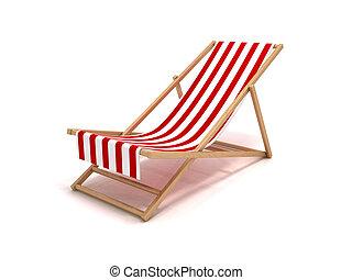 Beach chair - 3D rendering of a beach chair