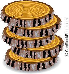 wooden cuts clip-art