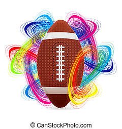 American football ball as the concept of an international...