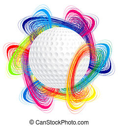 Golf ball as the concept of an international tournament
